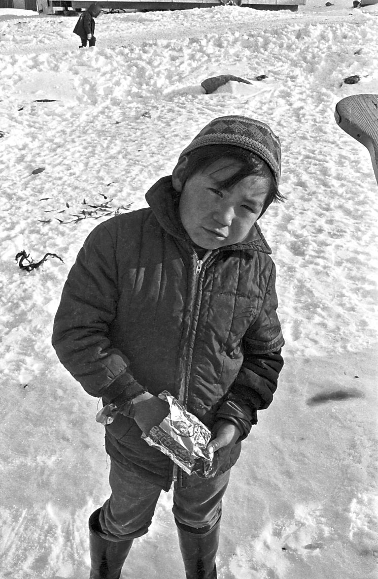 11-A-school-boy-during-recess,-Cape-Dorset,-Canadian-Arctic--