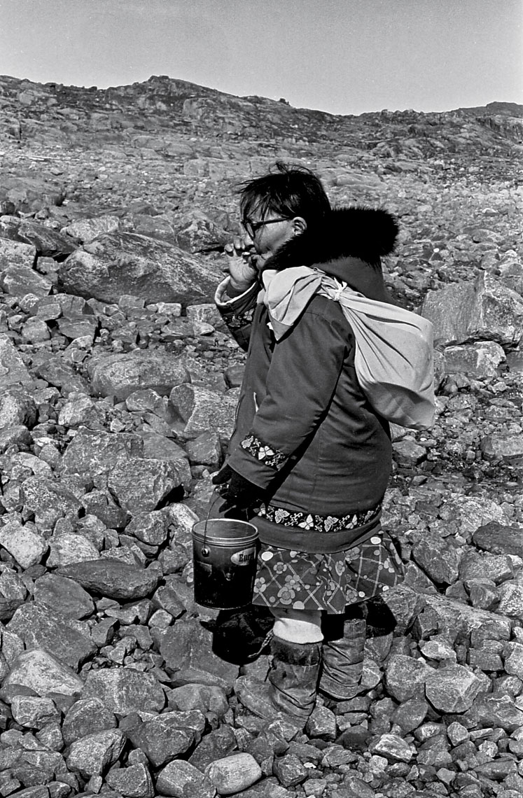 13-an-iInuit-woman-heading-for-berry-picking,-Canadian-Arctic-