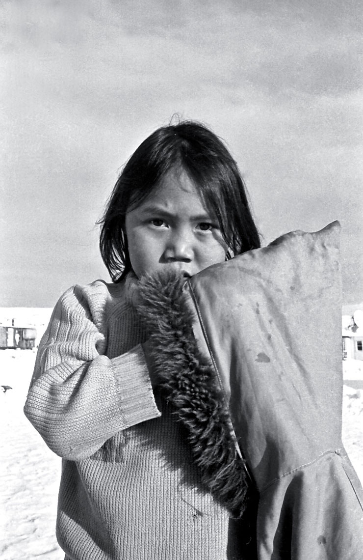 15-Young-girl-during-school-recess,-Cape-Dorset,-Canadian-Arctic-